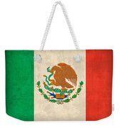 Mexico Flag Vintage Distressed Finish Weekender Tote Bag