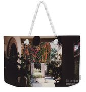 Mexico Garden Patio By Tom Ray Weekender Tote Bag