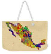 Mexico Map Watercolor Weekender Tote Bag