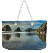 Meyers Creek Sea Stack Blues Weekender Tote Bag