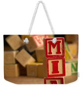 Mia - Alphabet Blocks Weekender Tote Bag