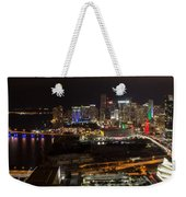 Miami After Dark II Skyline  Weekender Tote Bag
