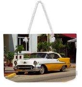 Miami Beach Classic Car Weekender Tote Bag