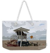 Miami Beach Lifeguard Station II Abstract Weekender Tote Bag