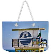 Miami Beach Lifeguard Station Weekender Tote Bag