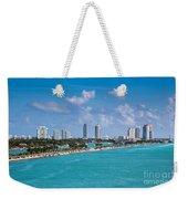 Miami Beach Skyline Weekender Tote Bag