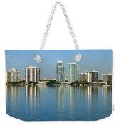 Miami Brickell Skyline Weekender Tote Bag