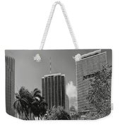 Miami Cityscape  Bw Weekender Tote Bag