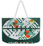 Miami Dolphins Football Recycled License Plate Art Weekender Tote Bag