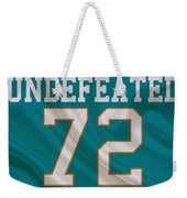 Miami Dolphins Undefeated Season Weekender Tote Bag