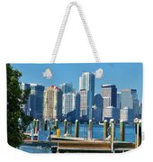 Miami On The Docks Weekender Tote Bag