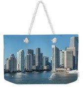 Miami Skyline, Miami-dade County Weekender Tote Bag