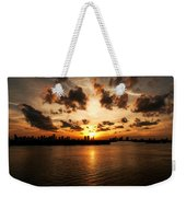 Miami Skyline Sunset Weekender Tote Bag