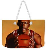Michael Jordan 2 Weekender Tote Bag by Paul Meijering