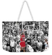 Michael Jordan Buzzer Beater Weekender Tote Bag by Brian Reaves