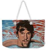 Michael Phelps Weekender Tote Bag by Paul Meijering