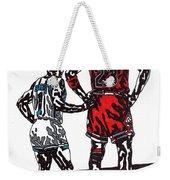 Micheal Jordan 1 Weekender Tote Bag by Jeremiah Colley
