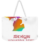 Michigan State Map Collection 2 Weekender Tote Bag