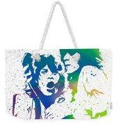 Mick Jagger And Keith Richards Weekender Tote Bag