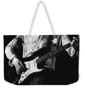Mick Playing Rock Guitar In 1977 Weekender Tote Bag