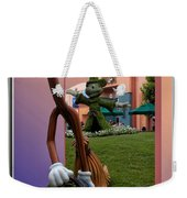 Mickey And Broom Floral Walt Disney World Hollywood Studios Weekender Tote Bag