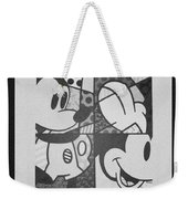 Mickey In Black And White Weekender Tote Bag