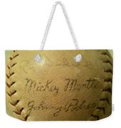 Mickey Mantle Baseball Autograph Weekender Tote Bag