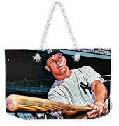 Mickey Mantle Painting Weekender Tote Bag