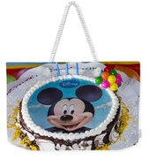 Mickey Mouse Cake Weekender Tote Bag