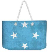 Micronesia Flag Vintage Distressed Finish Weekender Tote Bag