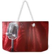 Microphone Weekender Tote Bag by Les Cunliffe