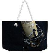Microphone On Black Weekender Tote Bag