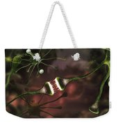 Microscopic Image Of Brain Neurons Weekender Tote Bag
