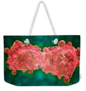 Microscopic View Of A Leukemia Cell Weekender Tote Bag
