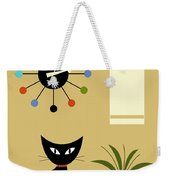 Mid Century Ball Clock 2 Weekender Tote Bag by Donna Mibus