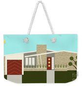 Mid Century Modern House 3 Weekender Tote Bag by Donna Mibus