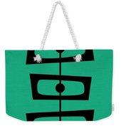 Mid Century Shapes On Aqua Weekender Tote Bag