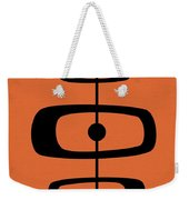 Mid Century Shapes 2 On Orange Weekender Tote Bag