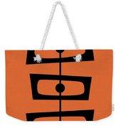 Mid Century Shapes On Orange Weekender Tote Bag