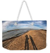Mid Dec Day At The Beach...who Can Argue At Presque Isle State Park Series Weekender Tote Bag