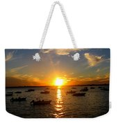 Mid Summer Sunset Over The Island Weekender Tote Bag