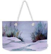 Midday Winter In Maine Weekender Tote Bag