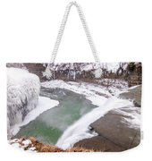 Middle Falls And Ice Feathers Weekender Tote Bag
