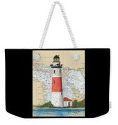 Middle Island Lighthouse Mi Cathy Peek Nautical Chart Art Weekender Tote Bag