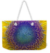 Middle Of Sunflower Close-up Weekender Tote Bag