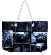 Midnight At The Prison Collage Weekender Tote Bag