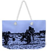 Midnight Battle Stay Close Weekender Tote Bag