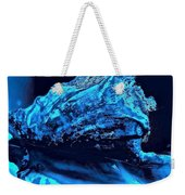 Midnight Blue Sea Shell Weekender Tote Bag