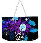 Midnight Callas And Orchids Abstract Weekender Tote Bag