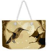 Midnight Hummingbird Weekender Tote Bag